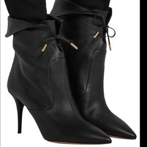 Aquazzura black tribeca ankle boots size 40